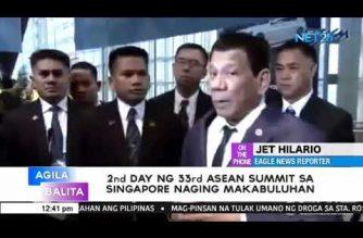 Ikalawang araw ng 33rd ASEAN Summit sa Singapore naging makabuluhan – Malacañang