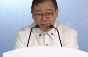 Foreign Affairs  Secretary Teodoro Locsin, Jr. answers questions from the media in a press conference on the sidelines of the 33rd Association of Southeast Asian Nations (ASEAN) Summit in Singapore on Thursday, Nov. 15. /PCOO/