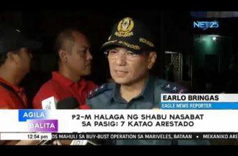 P2M halaga ng shabu nasabat sa Pasig; 7 katao arestado
