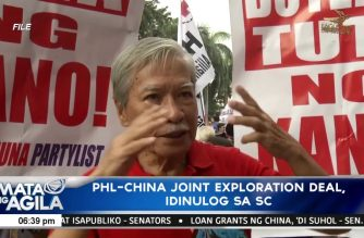 PHL-China joint exploration deal idinulog sa SC