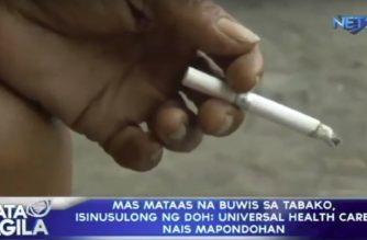 Mas mataas na buwis sa tabako, isinusulong ng DOH; Universal Health Care, nais mapondohan