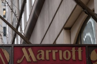 "(FILES) In this file photo taken on November 30, 2018 The Marriott logo is seen in Washington, DC, on November 30, 2018 after Marriott International announced that up to 500 million hotel guests may have had their data compromised in a hack of the Starwood reservation database. - The United States said December 12, 2018 that China was behind the massive hack of data from hotel giant Marriott, part of an ongoing global campaign of cyber-theft run by Beijing.Secretary of State Mike Pompeo confirmed to Fox News' Fox & Friends program that the government believes China masterminded the Marriott data theft.""They have committed cyber attacks across the world,"" he told the show. (Photo by NICHOLAS KAMM / AFP)"