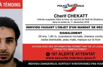 "This handout picture released by French Police on December 12, 2018 shows a call for witnesses (appel a temoins in French) with the picture and description of a man identified as Cherif Chekatt suspected of being the gunman involved in the Strasbourg shooting. - Hundreds of police and anti-terror forces hunted on December 12, 2018 for a gunman who shot dead several people and wounded a dozen in central Strasbourg. (Photo by Handout / FRENCH POLICE / AFP) / RESTRICTED TO EDITORIAL USE - MANDATORY CREDIT ""AFP PHOTO / FRENCH POLICE / HO"" - NO MARKETING NO ADVERTISING CAMPAIGNS - DISTRIBUTED AS A SERVICE TO CLIENTS ---"