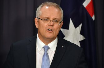 (FILES) In this file photo taken on August 24, 2018 Australia's incoming Prime Minister Scott Morrison speaks at a press conference in Canberra. - Australia now recognises west Jerusalem as Israel's capital, Prime Minister Scott Morrison said on December 15, 2018, but a contentious embassy shift from Tel Aviv will not occur until a peace settlement is achieved. (Photo by SAEED KHAN / AFP)