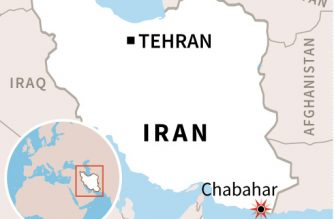 Map of Iran locating bomb attack in Chabahar. (AFP)
