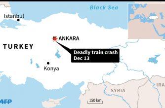 Map locating Ankara, site of deadly train crash Thursday.