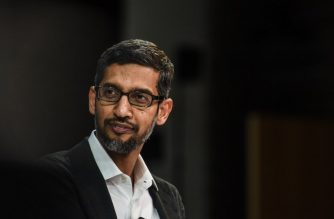 NEW YORK, NY - NOVEMBER 01: Sundar Pichai, C.E.O., Google Inc. speaks at the New York Times DealBook conference on November 1, 2018 in New York City.   Stephanie Keith/Getty Images/AFP