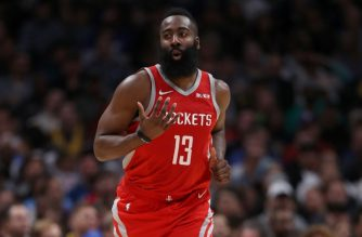 DENVER, CO - NOVEMBER 13: James Harden #13 of the Houston Rockets plays the Denver Nuggets at the Pepsi Center on November 13, 2018 in Denver, Colorado. NOTE TO USER: User expressly acknowledges and agrees that, by downloading and or using this photograph, User is consenting to the terms and conditions of the Getty Images License Agreement.   Matthew Stockman/Getty Images/AFP