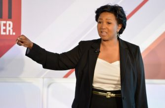 NEW YORK, NY - MAY 12: Physician and NASA astronaut Mae Jemison speaks onstage during the 2016 Forbes Women's Summit at Pier Sixty at Chelsea Piers on May 12, 2016 in New York City.   Slaven Vlasic/Getty Images/AFP
