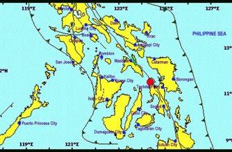 A 3.8-magnitude earthquake struck Leyte on Tuesday, Dec. 25./PHIVOLCS/