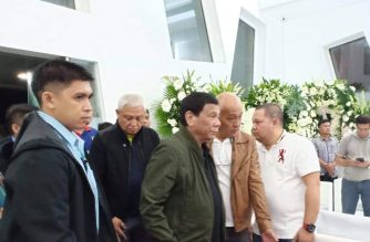 President Duterte visits wake of Surigao del Sur Gov. Vicente Pimentel Jr.