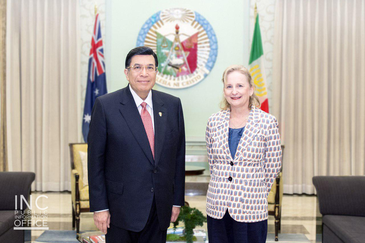 Outgoing Australian ambassador Gorely makes her farewell courtesy call on INC leader