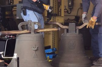 The two Balangiga bells housed in Wyoming are now being readied for transport to the Philippines./US Embassy/