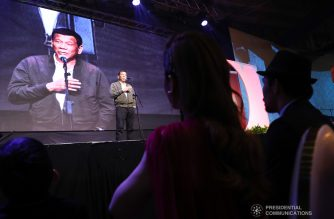 President Rodrigo Roa Duterte gives a message during the birthday celebration of Senator Emmanuel Pacquiao at the KCC Convention and Events Center in General Santos City on December 17, 2018. ROBINSON NIÑAL JR./PRESIDENTIAL PHOTO