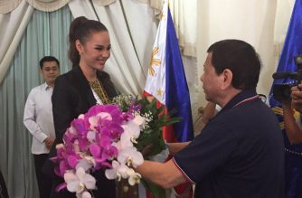Miss Universe 2018 Catriona Gray paid President Rodrigo Duterte a courtesy call on Thursday, Dec. 20./Malacanang/