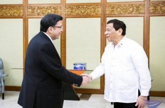President Rodrigo Duterte makes a courtesy call on Iglesia Ni Cristo Executive MInister Brother Eduardo V. Manalo on Friday, December 14, 2018.   (Eagle News Service)