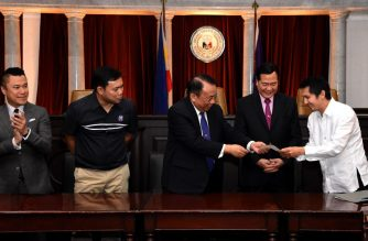 Chief Justice Lucas Bersamin on Tuesday, Dec. 18, led the signing of the absolute deed of sale for the purchase of the Taguig property where the High Court's new complex will stand./SC/