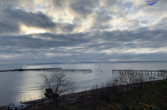 White Rock Pier located one hour south of Vancouver, Canada suffered damage from a recent storm that swept through the region. Photo by Jay Suarez, EBC British Columbia Bureau.