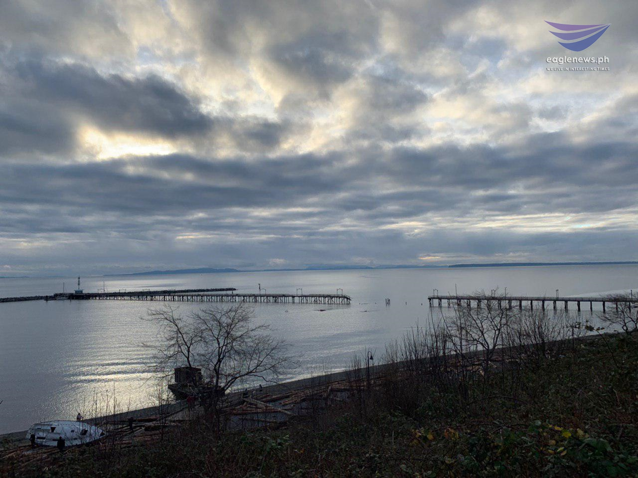 #EBCPhotojournalism:  December storm damages White Rock Pier