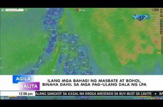 Ilang bahagi ng Masbate at Bohol binaha dahil sa mga pag-ulang dala ng LPA