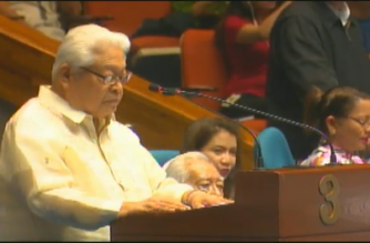 "Albay Rep. Edcel Lagman interpellated on Wednesday, Dec. 12,  some of the executive's resource speakers calling for the extension of martial law in Mindanao for a third time. Lagman said the extension of martial law in the region was being done ""in perpetuity."""