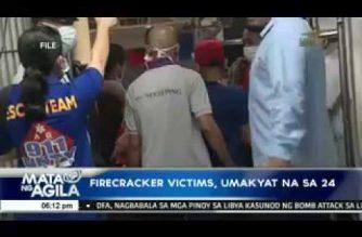Naitalang firecracker-related injuries, umakyat na sa 24