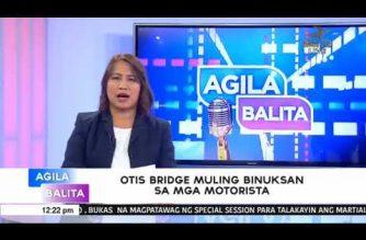 Otis Bridge muling binuksan sa mga motorista