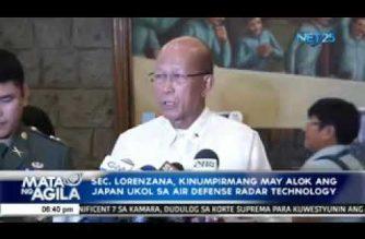 Sec. Lorenzana, kinumpirmang may alok ang Japan ukol sa air defense radar technology