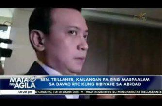 Sen. Trillanes kailangan pa ring magpa-alam sa Davao RTC kung bibiyahe patungong abroad