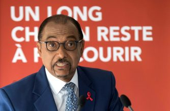 """Sidibe came under fire in an expert report that described UNAIDS as being mired in """"a crisis which threatens its vital work."""" /AFP Photo/"""