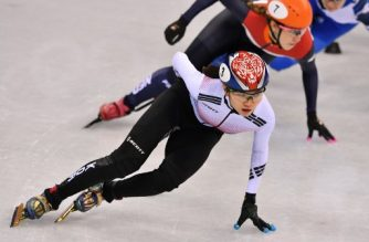 (File photo) South Korea's Shim Sukhee leads in the women's 1,000m short track speed skating quarter-final event during the Pyeongchang 2018 Winter Olympic Games, at the Gangneung Ice Arena in Gangneung on February 22, 2018. (Photo by Mladen ANTONOV / AFP)