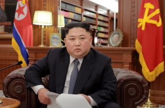"""This picture released by North Korea's official Korean Central News Agency (KCNA) shows North Korean leader Kim Jong Un delivering an address to mark the New Year at an undisclosed location on January 1, 2019. (Photo by KCNA VIA KNS / KCNA VIA KNS / AFP) / - South Korea OUT / ---EDITORS NOTE--- RESTRICTED TO EDITORIAL USE - MANDATORY CREDIT """"AFP PHOTO/KCNA VIA KNS"""" - NO MARKETING NO ADVERTISING CAMPAIGNS - DISTRIBUTED AS A SERVICE TO CLIENTS / THIS PICTURE WAS MADE AVAILABLE BY A THIRD PARTY. AFP CAN NOT INDEPENDENTLY VERIFY THE AUTHENTICITY, LOCATION, DATE AND CONTENT OF THIS IMAGE --- /"""