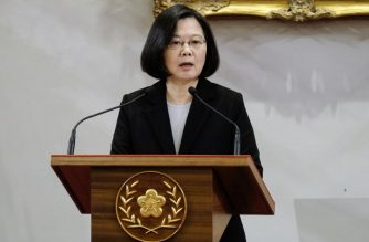 """Taiwan's President Tsai Ing-wen speaks during a press conference at the Presidential Palace in Taipei on January 2, 2019. - Taiwan's unification with the mainland is """"inevitable"""", President Xi Jinping said on January 2, warning against any efforts to promote the island's independence and saying China would not renounce the option of using military force to bring it into the fold. (Photo by SAM YEH / AFP)"""