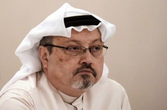 (FILES) In this file photo taken on December 15, 2014 , Saudi journalist Jamal Khashoggi attends a press conference in the Bahraini capital Manama. - Saudi Arabia's attorney general sought the death penalty for five of 11 defendants charged with the murder of Khashoggi as their high-profile trial opened in Riyadh on January 3, 2019. (Photo by MOHAMMED AL-SHAIKH / AFP)