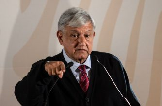 Mexico's President Andres Manuel Lopez Obrador presents the new economic programme for the northern border zone, in Tijuana, Baja California State, Mexico, on January 6, 2019. (Photo by GUILLERMO ARIAS / AFP)
