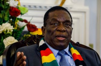 (FILES) In this file photo taken on September 7, 2018 Zimbabwe's President Emmerson Mnangagwa answers questions during a press conference to announce ministers of his new cabinet at State House in Harare, Zimbabwe. - Zimbabwe President Emmerson Mnangagwa has landed back in Harare, state television said on January 22, 2019, after he cut short a foreign tour over nationwide protests that were met with a brutal security crackdown. (Photo by Jekesai NJIKIZANA / AFP)