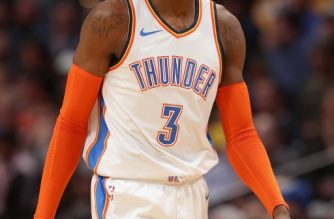 DENVER, COLORADO - DECEMBER 14: Nerlens Noel #3 of the Oklahoma City Thunder plays the Denver Nuggets at the Pepsi Center on December 14, 2018 in Denver, Colorado. NOTE TO USER: User expressly acknowledges and agrees that, by downloading and or using this photograph, User is consenting to the terms and conditions of the Getty Images License Agreement.   Matthew Stockman/Getty Images/AFP