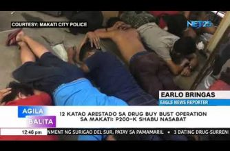 12 drug suspects arrested in buy-bust operation in Makati; Php 200K worth of shabu seized