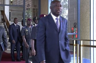 (File photo) International Criminal Court acquits former Ivory Coast strongman Gbagbo.  (Photo grabbed from Agence France Presse video/Courtesy AFP)