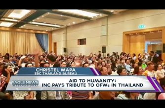 Aid to Humanity:  INC pays tribute to OFWs in Thailand