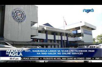DOTR, nagbabala laban sa unofficial LTO Facebook page na nag-aalok ng online services