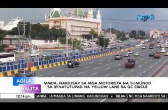 MMDA, nakiusap sa mga motorista na sumunod sa ipinatutupad na yellow lane sa QC Circle