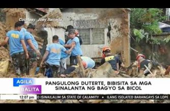 """Palace: Duterte to visit areas hit by """"Usman"""" on Friday, Jan. 4"""