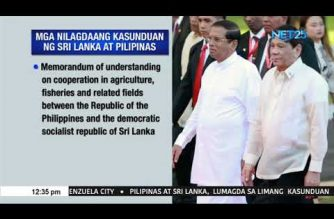 PHL, Sri Lanka ink agreements on defense, agriculture, tourism