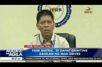 Php 9.00 jeepney fare rollback, dapat sundin – LTFRB