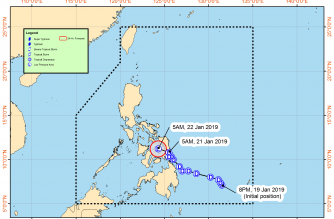 """""""Amang"""" maintains its strength; Signal No. 1 hoisted over several areas"""