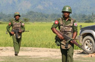 The Myanmar army has long been engaged in controversial operations in Rakhine state, with hundreds of thousands of Rohingya Muslims forced into Bangladesh by a bloody army crackdown in 2017.