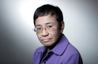 CEO of Philippine news website Rappler, Maria Ressa, poses during a photo session on September 11, 2018 in Paris. (Photo by JOEL SAGET / AFP)