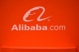 The Alibaba.com logo is displayed at CES 2019 consumer electronics show, January 10, 2019 at the Las Vegas Convention Center in Las Vegas, Nevada. (Photo by Robyn Beck / AFP)