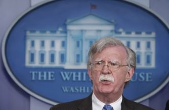 National Security Advisor John Bolton speaks during a briefing in the Brady Briefing Room of the White House in Washington, DC on January 28, 2019. (Photo by Mandel NGAN / AFP)